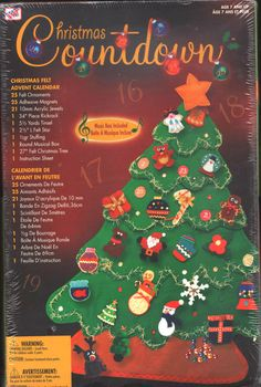 "WESTRIM CRAFTS MUSICAL BOX ""CHRISTMAS COUNTDOWN"" FELT ADVENT CALENDAR ~ NIP #WESTRIMCRAFTS"