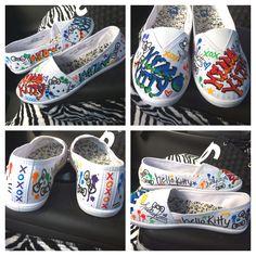 c80d9d5d8247 Custom drawn Hello Kitty graffiti shoes I did for a friend  )