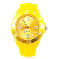 Kinder Silikon Uhr XXS Gelb Trend Watch Big Face Style Sport Herrenuhr Damenuhr HOT - http://besteckkaufen.com/sz-design/kinder-silikon-uhr-xxs-gelb-trend-watch-big-face