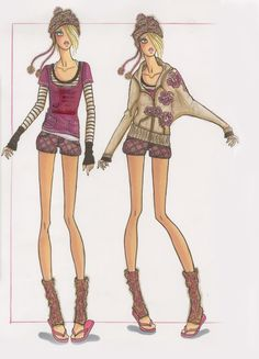 Illustrated by Carrie Jean for Juicy Couture | Otis Fashion