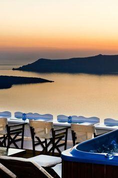 Fira Sunset, Santorini, Greece.