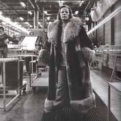 "When asked why Marimekko founder Armi Ratia decided to base Marimekko in Finland out of all places, she stated that she was ""not amused by easiness.""  photo: Ratia in the Marimekko factory at Herttoniemi, mid 1970's"