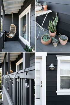 i'm very excited to finally share with you my latest home improvement project! i got up some steely nerve and painted my new house black! i've always dreamed of having a black house, and i couldn't be