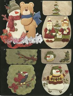 Archivo de álbumes - Fieltro vol.25 Christmas Clay, Christmas Time, Sewing Projects, Craft Projects, Christmas Door Decorations, Felt Patterns, Wool Applique, Wood Art, Kids Rugs