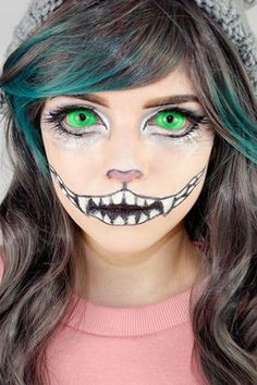 Channel Alice in Wonderland's grinning purple cat with these mind-blowing makeup tutorials.