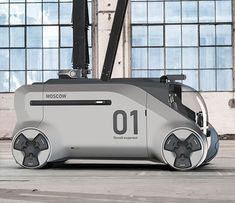 Futuristic Fast Response Fire Truck Concept for Moscow - Tuvie Ev Charger, Future Transportation, Car Design Sketch, Truck Design, Vanz, City Car, Futuristic Cars, Automotive Design, Fire Trucks