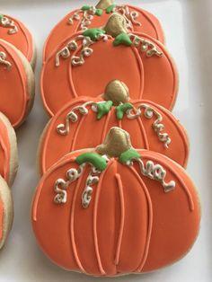 Fall pumpkin decorated cookies