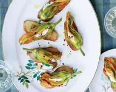 Squash Blossoms with Pimiento Ricotta // More Southern Comfort Foods: http://www.foodandwine.com/slideshows/southern-recipes #foodandwine