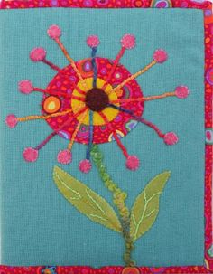 Flower Power Journal cover at Geoff's Mom Pattern Co