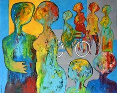"""Saatchi Art Artist Miroslav Hajnos; Painting, """"Sunday on the boulevard"""" #art"""