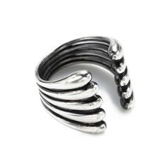 My design inspiration: Linear Trickle Ring on Fab.