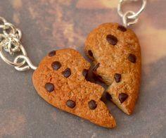 Cookie Best Friend Necklaces by DeliciousTrickery on DeviantArt Bff Necklaces, Best Friend Necklaces, Best Friend Jewelry, Friendship Necklaces, Cute Necklace, Love My Best Friend, Best Friends For Life, Best Friends Forever, Cute Polymer Clay