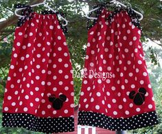 Minnie Mouse Pillowcase dress #2....deciding if I like the black and white polka dots...   Isabella Fay   Pinterest   Minnie mouse Mice and Craft & Minnie Mouse Pillowcase dress #2....deciding if I like the black ... pillowsntoast.com