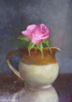 """oil on board. 8""""x6"""".a rose is a rose is a rose."""