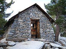 The cabin at Mt. San Jacinto's peak.
