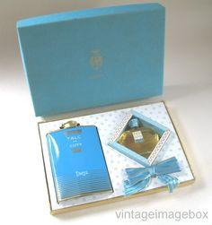 PARIS by COTY, Vintage mini perfume & talc, boxed, retro 1960s 60s toiletries