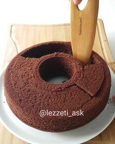 Sizce nasıl olmus arkadaslar, begendinizmi 😍 Uzun süredir kekleri oymadıgımı fark ettim 😊 Bu sefer içini pastacı kreması ve muzla doldurdum..Üzerine çikolata ve çilekler 🍓 Tadı çok güzel oldu, kek pasta arası sunumuda gayet şık..Benzer kalıplarınız varsa benim gibi oyabilirsiniz.Yada tepsiye yayıp p...