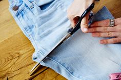 Turn your old jeans into cutoff shorts. American Eagle Outfitters Blog DIY