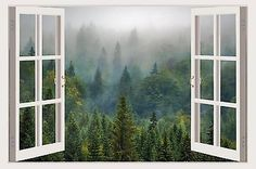 tree wall stickers 3D window landscape forest wall decal vinyl home decor W135