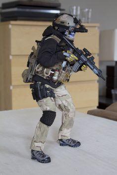 1 6 Hot Toys Soldier Story B w Custom Para Military Unit A   eBay