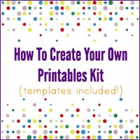 kind over matter: How To Create Your Own Printables Kit! $35