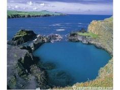 Blue Lagoon - Abereiddi beach, Pembrokeshire, Wales, famous for its black sand full of tiny fossils. Pembrokeshire Coast Path, Pembrokeshire Wales, South Wales, Wales Uk, Cymru, England And Scotland, Beaches Nearby, Local Beaches, Blue Lagoon