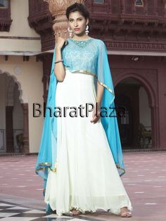 Classic outfit will make you an icon of beauty.  Item Code: SLKD1001F http://www.bharatplaza.com/new-arrivals/salwar-kameez.html