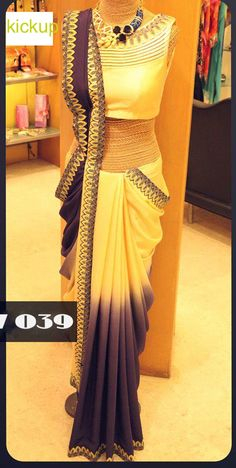Beautifully Dyed Ombre Sari. - SAREE - EXCLUSIVE COLLECTION