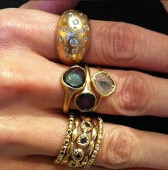 Rings rings rings! Featuring the new diamond slice ring, each piece is one of a kind and handcrafted in Austin, TX.