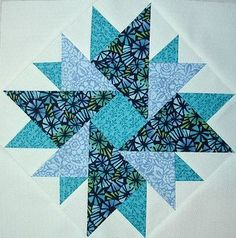 Double Aster block June 2012 002   by Happy 2 Sew