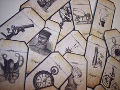 Blank Steampunk Apothecary Labels Set of 15 by mreguera on Etsy, $8.00