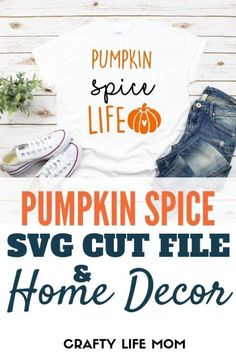 Pumpkin Spice Home Decor frame and wood sign display
