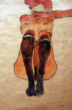 """Egon Schiele """"Women"""" at Richard Nagy, London Egon SchieleJune 12, 1890 – October 31, 1918) was anAustrianpainter. A protégé ofGustav Klimt, Schiele was a major figurative painter of the early 20th century. His work is noted for its intensity, and the manyself-portraitsthe artist produced. The twisted body shapes and the expressive line that characterize Schiele's paintings and drawings mark the artist as an early exponent ofExpressionism."""