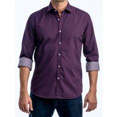 The Biz} Classic Button Down Dress Shirt in Daylight Purple ...