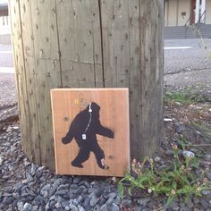 iTunes Sasquatch street art.