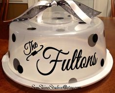 Personalized Cake Carrier by sonshinestudios on Etsy