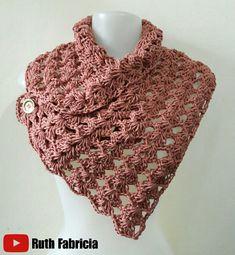 Crochet Cowel, Crochet Collar, Crochet Blouse, Love Crochet, Crochet Scarves, Beautiful Crochet, Crochet Clothes, Crochet Designs, Crochet Patterns