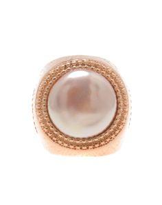 Fun! Rose Gold Fashion Pearl Stylish Statement Ring, Rose Gold, LEYAN | VIPme