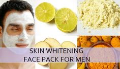 Best Homemade Skin Whitening Face Pack for Men, these lightening face packs have natural skin lightening to get the fairer complexion naturally for men skin