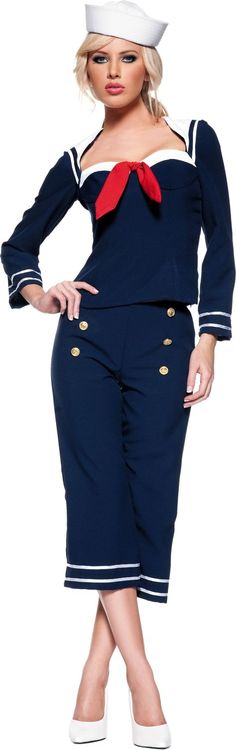 Ship Mate Sailor Costume for Women Party City ONLINE ONLY SKU P400297 Price $29.99  sc 1 st  Pinterest & 34 best Sailor Costumes images on Pinterest | Sailor costumes ...