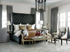 chic grey bedroom