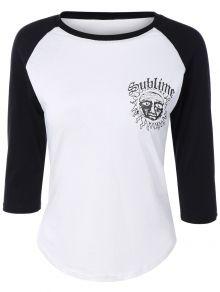 Raglan Sleeve T-Shirt 13$