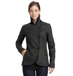 Nau Highline Blazer - pea coat-inspired blazer in waterproof, breathable wool flannel. - we all know by now how much I love stylish yet functional clothes :)