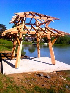 Timber Framed Pagoda asian-patio