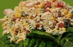 Salatka z ryzem i kurczakiem