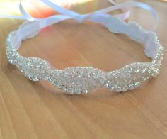 Bridal Headband Bridal Hair Piece Bridal by IDoWeddingBoutique #idoweddingboutique #rhinestone #bridalheadband
