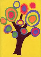 Abstract circle trees ~ inspired by Kandinsky who is famous for his abstract circle works.