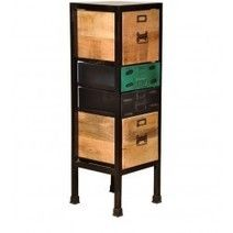 Buy Mint Compact Chest of Drawers by Bohemiana Online - Industrial Chest of Drawers - Chest of Drawers - Furniture - Pepperfry Product
