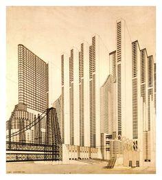 Mario Chiattone; Construção para uma Metrópole Moderna, 1914. Disponivel em: Martin, Sylvia; Futurismo, 2005, 95 p.