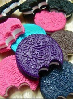 Colored oreo's|Tumblr